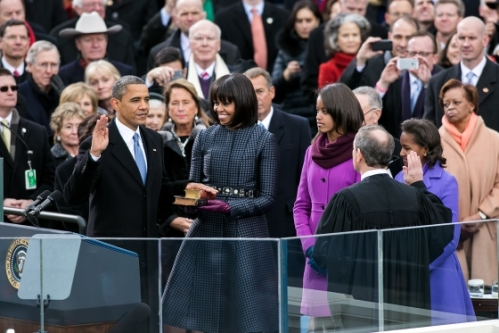 Obama takes the Oath of Office for the second time. Upholding the Constitution hasn't been the only thing to which he has sworn.