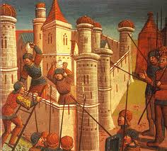 The fall of Constantinople (1453). The Crusading spirit obviously played no role in the conflict.