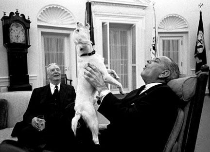 Lyndon Johnson, the last truly homespun president.